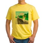 Train Toilet Yellow T-Shirt