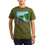 Train Toilet Organic Men's T-Shirt (dark)