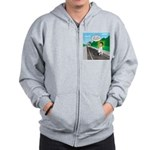 Train Toilet Zip Hoodie