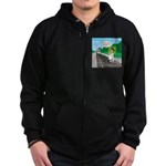 Train Toilet Zip Hoodie (dark)