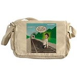 Train Toilet Messenger Bag