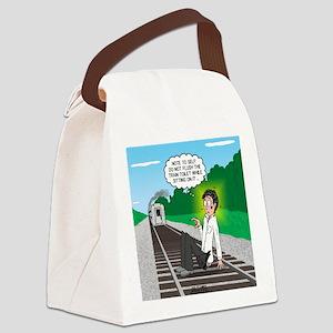 Train Toilet Canvas Lunch Bag
