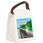 Train Toilet Canvas Lunch Bag