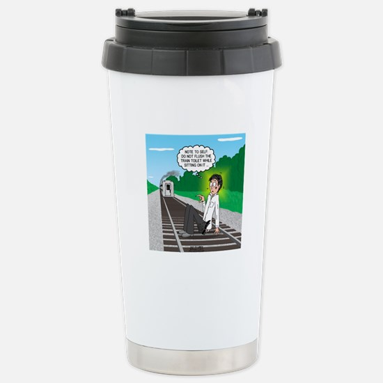 Train Toilet Stainless Steel Travel Mug