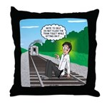 Train Toilet Throw Pillow