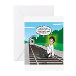 Train Toilet Greeting Cards (Pk of 10)