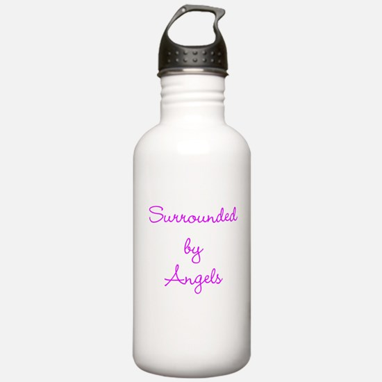 Surrounded Angels purple Water Bottle