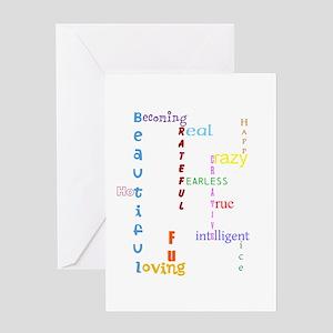 Uplifting Characteristics Greeting Cards
