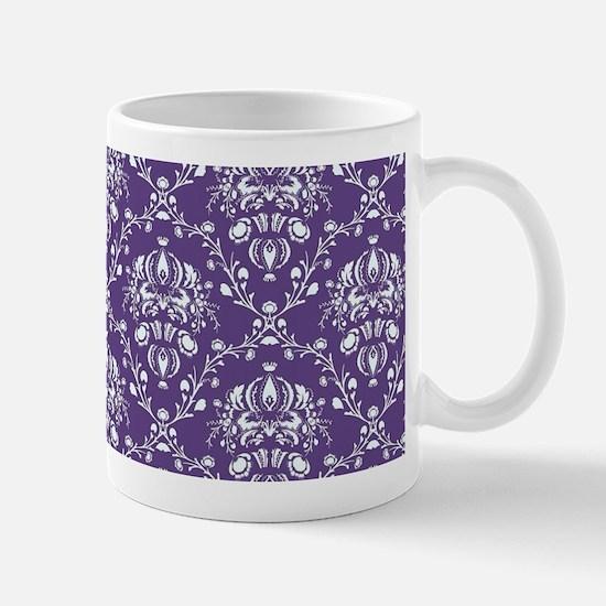 Purple Damask Mug