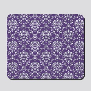 Purple Damask Mousepad