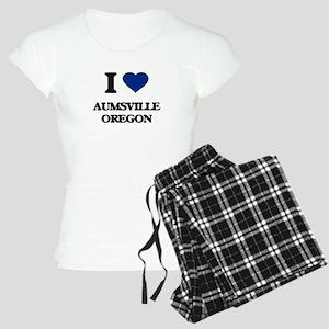 I love Aumsville Oregon Women's Light Pajamas