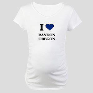 I love Bandon Oregon Maternity T-Shirt