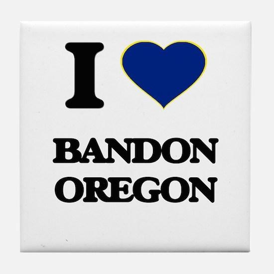 I love Bandon Oregon Tile Coaster