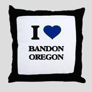 I love Bandon Oregon Throw Pillow