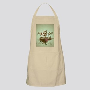 Skadeboarder with grunge and floral elements Apron