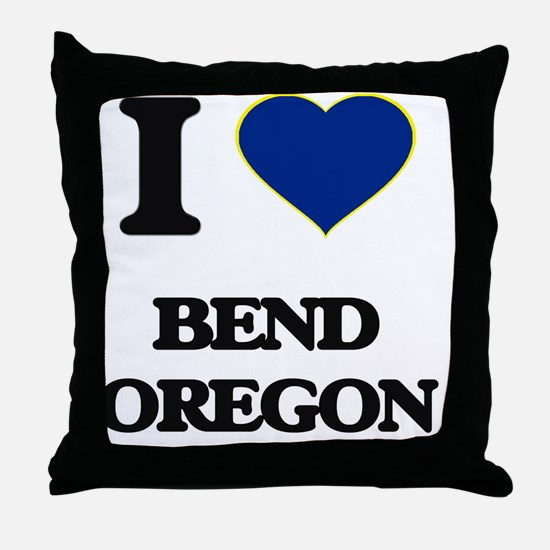 I love Bend Oregon Throw Pillow