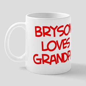 Bryson Loves Grandpa Mug