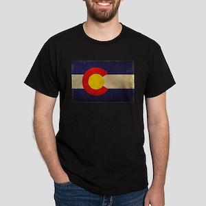 Colorado State Flag VINTAGE Dark T-Shirt