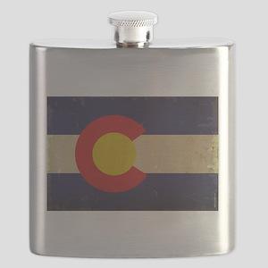 Colorado State Flag VINTAGE Flask
