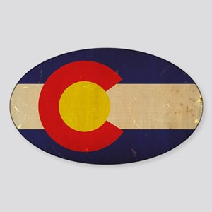 Colorado State Flag VINTAGE Sticker (Oval)