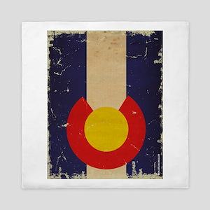 Colorado State Flag VINTAGE Queen Duvet