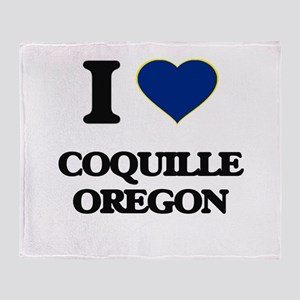 I love Coquille Oregon Throw Blanket