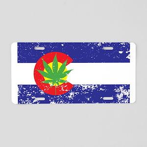 Colorado State Flag Marijuana Pot Weed Leaf Alumin