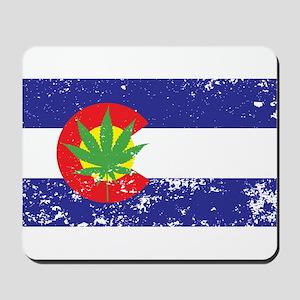 Colorado State Flag Marijuana Pot Weed Leaf Mousep