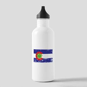 Colorado State Flag Marijuana Pot Weed Leaf Water