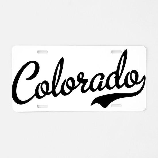 Colorado Script Black Aluminum License Plate
