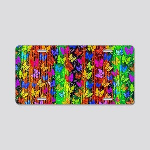 Tropical wave butterflies Aluminum License Plate