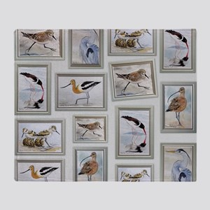 Shorebirds_large Throw Blanket