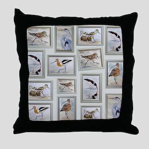 Shorebirds_large Throw Pillow