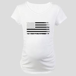 Vintage USA Flag Maternity T-Shirt