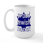 proud jewish zionist Large Mug