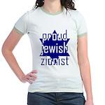 proud jewish zionist Jr. Ringer T-Shirt