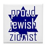 proud jewish zionist Tile Coaster
