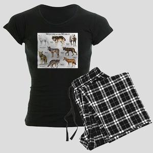 Wolves of the World Women's Dark Pajamas