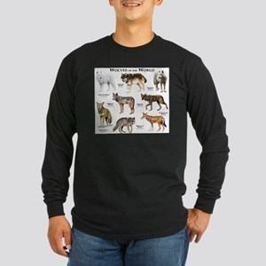 Wolves of the World Long Sleeve Dark T-Shirt