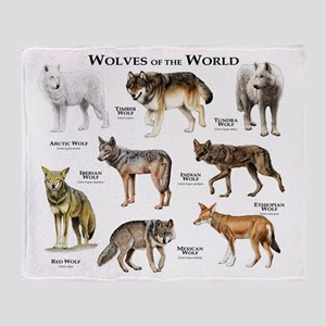 Wolves of the World Throw Blanket