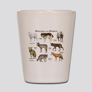 Wolves of the World Shot Glass