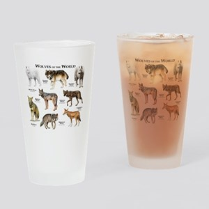 Wolves of the World Drinking Glass