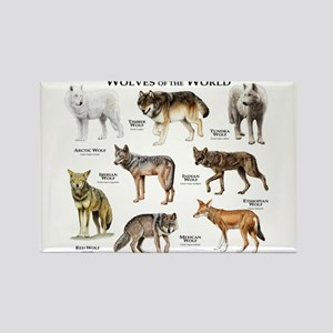Wolves of the World Rectangle Magnet