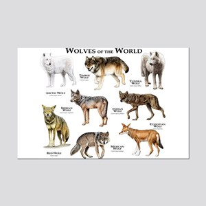Wolves of the World Mini Poster Print