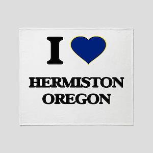 I love Hermiston Oregon Throw Blanket
