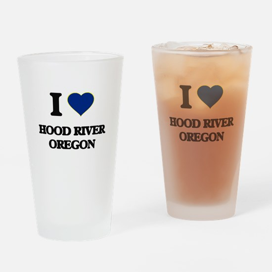 I love Hood River Oregon Drinking Glass