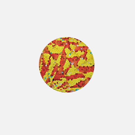 Yellow and red abstract Mini Button