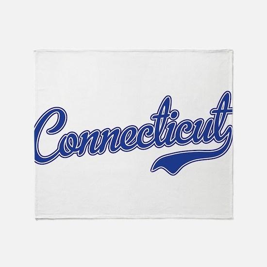 Connecticut Script Font Throw Blanket