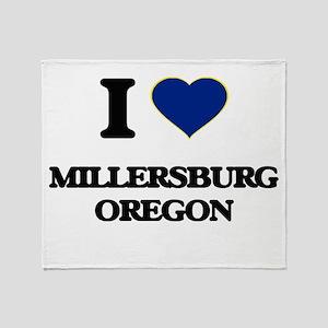 I love Millersburg Oregon Throw Blanket