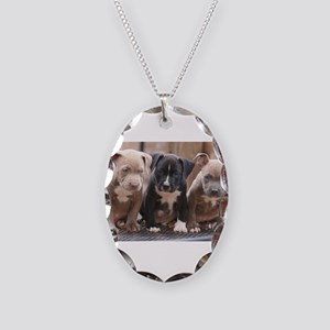 Pitbull Necklace Oval Charm